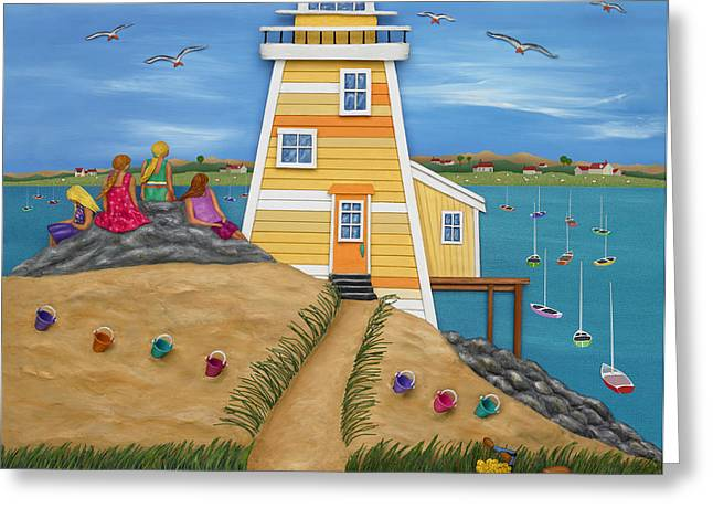 Toy Boat Greeting Cards - Everything Was Illuminated Greeting Card by Anne Klar