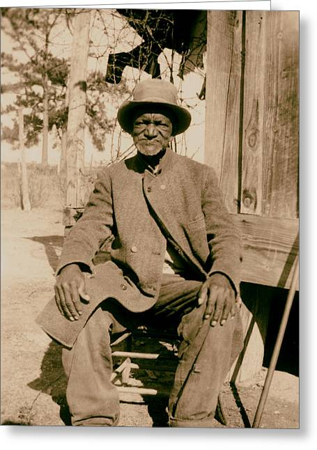 Slavery Greeting Cards - Ex-Slave Wes Brady - Texas 1937 Greeting Card by Mountain Dreams