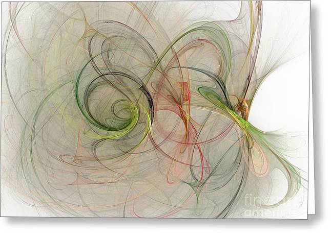 Geometric Style Greeting Cards - Excellent abstract forms  Greeting Card by Odon Czintos