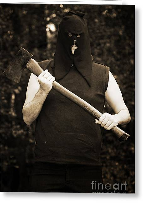 Executioner With Axe Greeting Card by Jorgo Photography - Wall Art Gallery