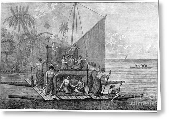Perouse Greeting Cards - Exploration Of Tonga, 18th Century Greeting Card by CCI Archives