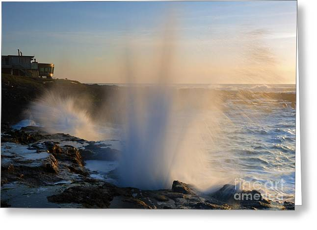 Ocean Spray Greeting Cards - Explosion Greeting Card by Mike  Dawson