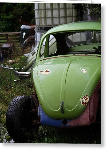 Vw Beetle Greeting Cards - Exposure Greeting Card by Odd Jeppesen