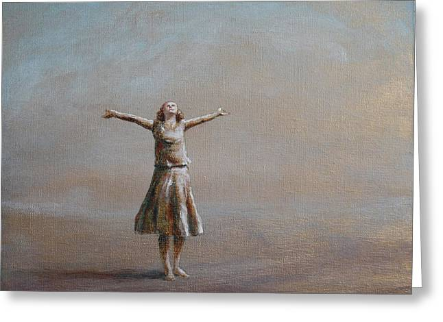 Outstretched Arm Paintings Greeting Cards - Exterior Greeting Card by Leisa Collins