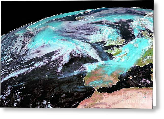 Flooding Greeting Cards - Extratropical Storm Katia, 2011 Greeting Card by University of Dundee