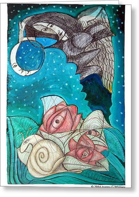 Mythological Greeting Cards - Eye See You Greeting Card by Joanna Whitney