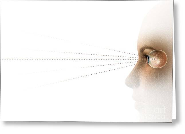21st Greeting Cards - Eyetracking, Artwork Greeting Card by Claus Lunau