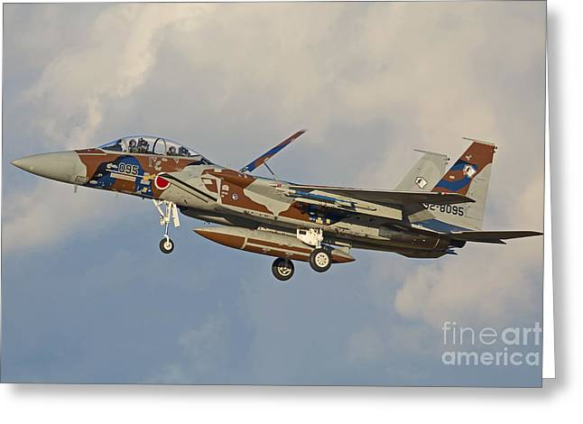F-15dj Eagle Of The Japan Air Self Greeting Card by Phil Wallick