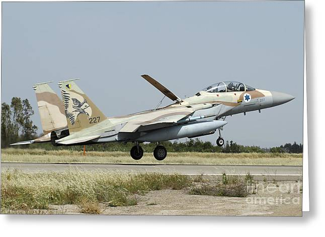 F-15i Raam From The Israeli Air Force Greeting Card by Riccardo Niccoli
