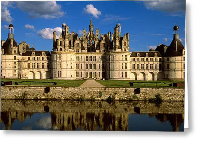 Royalty Greeting Cards - Facade Of A Castle, Chateau De Greeting Card by Panoramic Images