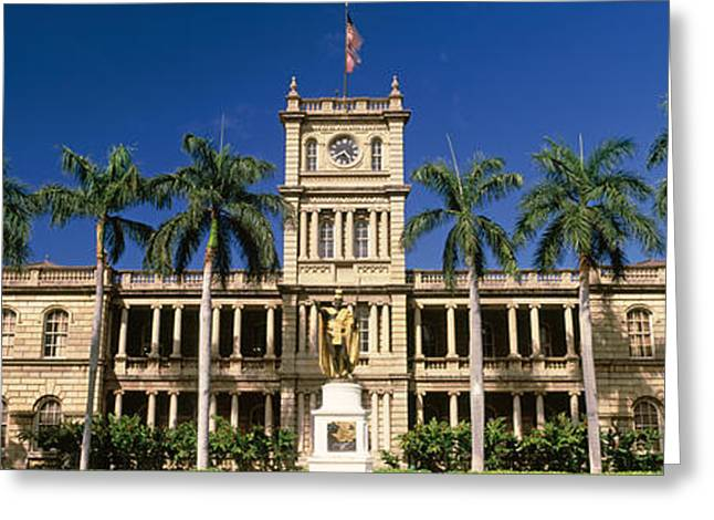 Kamehameha Greeting Cards - Facade Of A Government Building Greeting Card by Panoramic Images