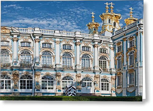 Facade Of A Palace, Catherine Palace Greeting Card by Panoramic Images