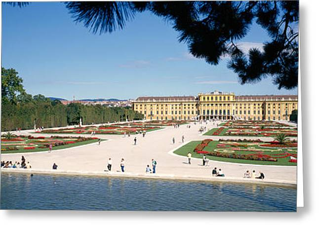 Old Vienna Greeting Cards - Facade Of A Palace, Schonbrunn Palace Greeting Card by Panoramic Images