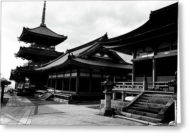 Facade Of A Temple, Kiyomizu-dera Greeting Card by Panoramic Images