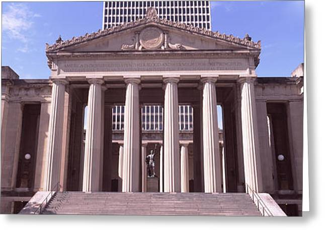 Nashville Greeting Cards - Facade Of The War Memorial Auditorium Greeting Card by Panoramic Images