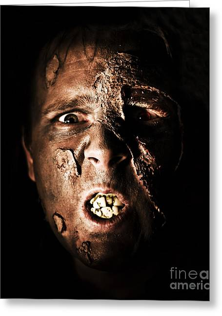 Living Dead Greeting Cards - Face Of Death Greeting Card by Ryan Jorgensen
