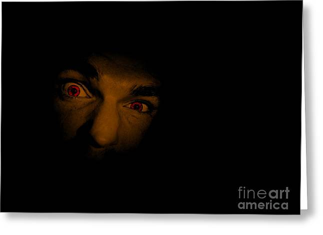 Face Of Evil Greeting Card by Jorgo Photography - Wall Art Gallery
