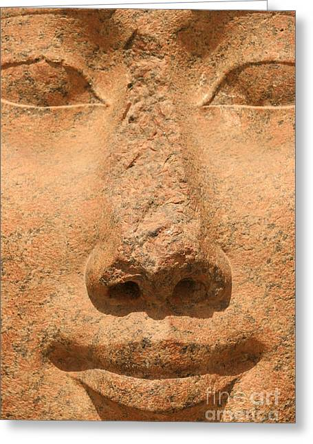 Hathor Greeting Cards - Face Of Hathor Greeting Card by Stephen & Donna O