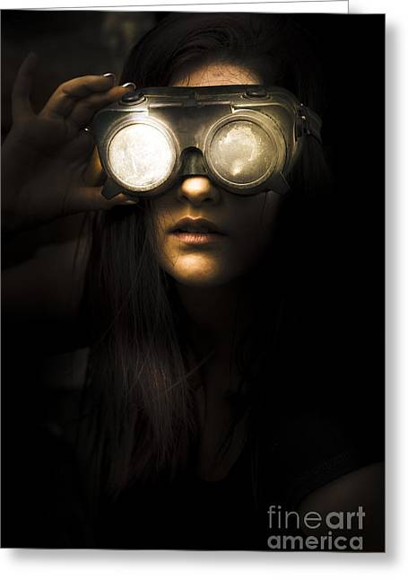Face Of Industrial Grunge Greeting Card by Jorgo Photography - Wall Art Gallery