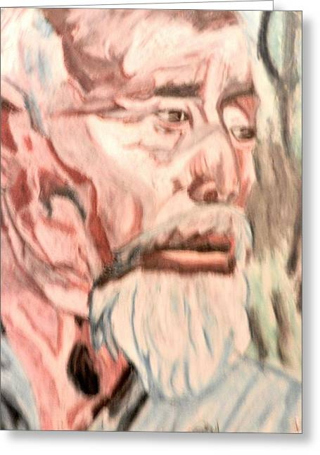 Farmer Pastels Greeting Cards - Face Of Strength  Greeting Card by Jo-Ann Hayden