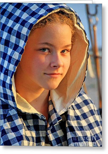Colonial Actors Greeting Cards - Faces 5 Greeting Card by John Langdon
