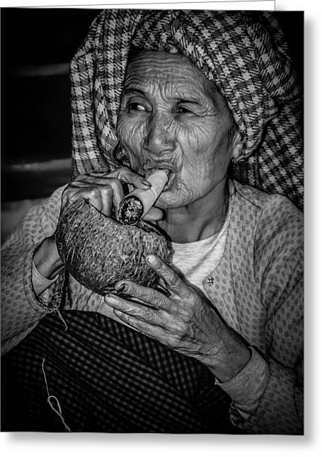 Myanmar Greeting Cards - Faces of Myanmar Greeting Card by Mountain Dreams