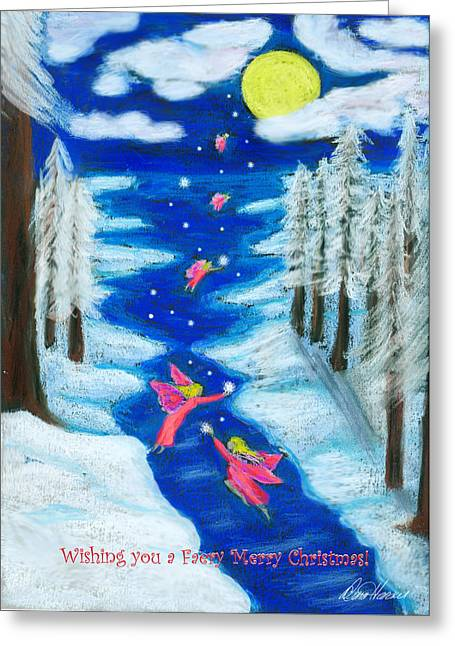 Diana Haronis Greeting Cards - Faery Merry Christmas Greeting Card by Diana Haronis