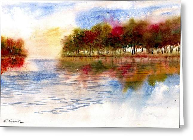 Award Winning Art Greeting Cards - Fall Color Reflections Greeting Card by Steven Schultz
