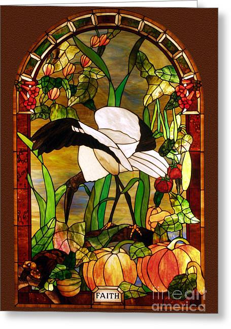 Animal Glass Greeting Cards - Fall-faith Greeting Card by John Emery