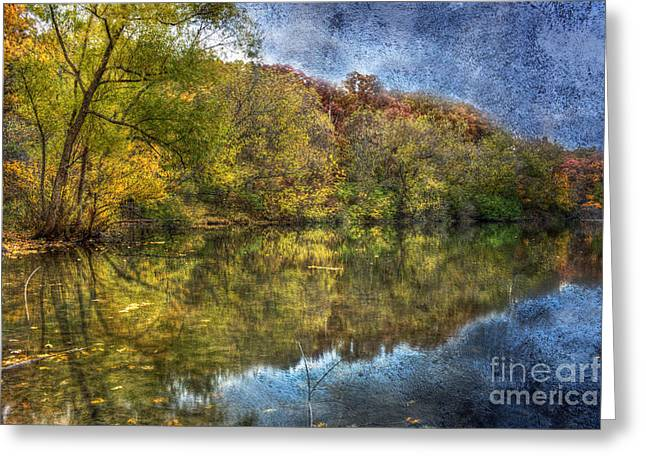 Indiana Autumn Greeting Cards - Fall Reflections Greeting Card by Scott Wood