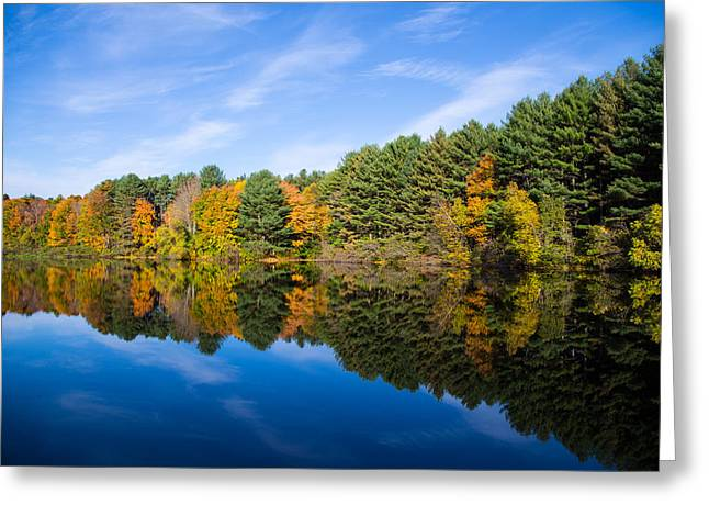 Foilage Greeting Cards - Fall Reflects Greeting Card by Karol  Livote