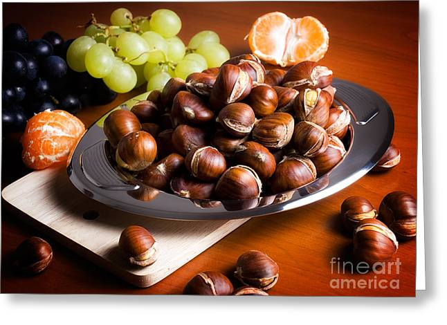Tangerine Greeting Cards - Fall table Greeting Card by Sinisa Botas
