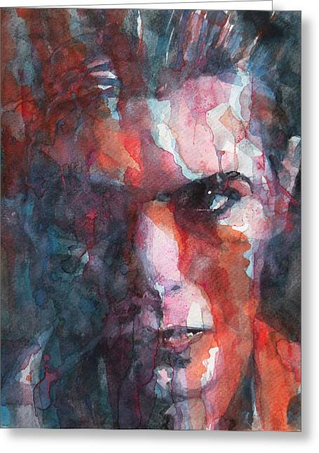 Ziggy Stardust Greeting Cards - Fame Greeting Card by Paul Lovering