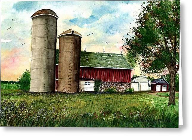 Family Farm Greeting Card by Steven Schultz