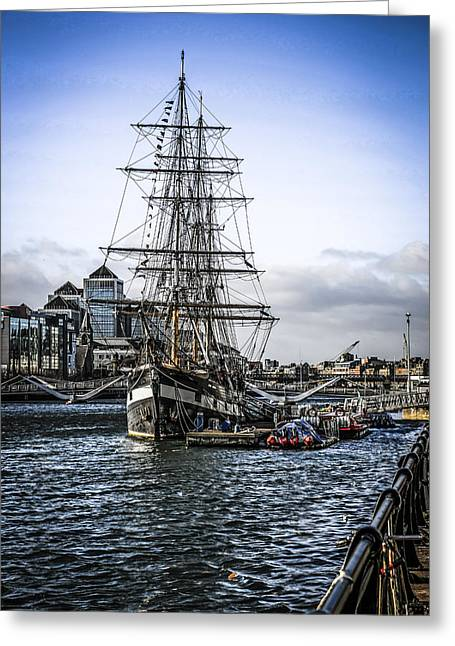 Jeanie Greeting Cards - Famine Ship Greeting Card by Chris Smith