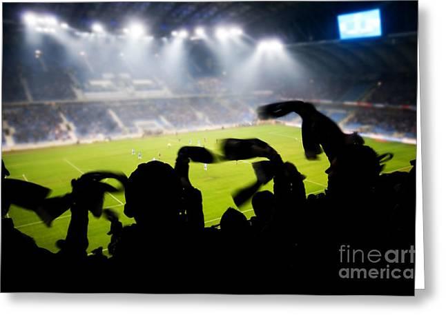 Euro 2012 Greeting Cards - Fans celebrating goal Greeting Card by Michal Bednarek
