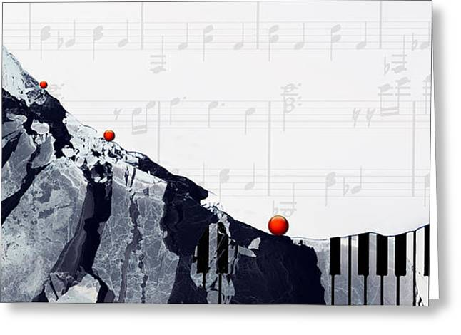 Jazz Pianist Greeting Cards - Fantasia - Piano Art By Sharon Cummings Greeting Card by Sharon Cummings