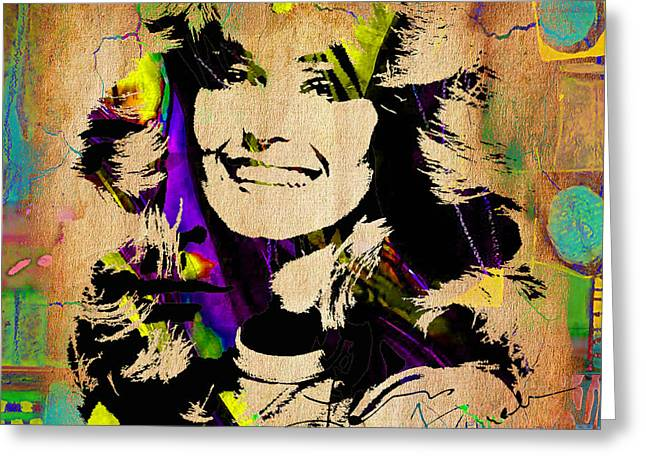 Icon Greeting Cards - Farrah Fawcett Collection Greeting Card by Marvin Blaine