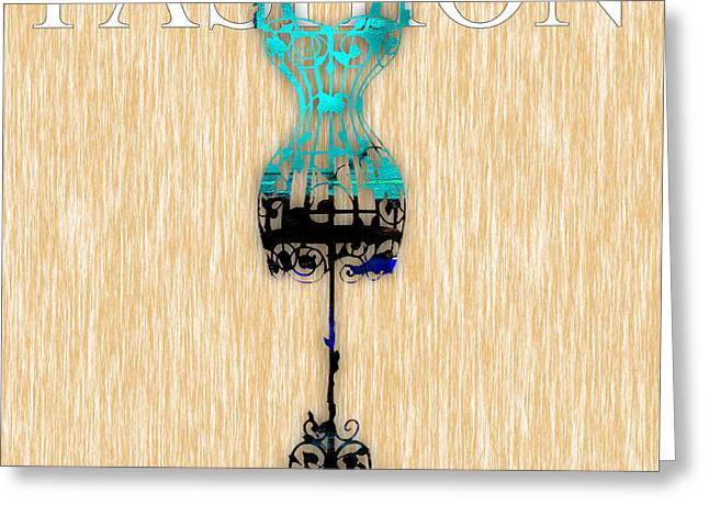 Apparel Mixed Media Greeting Cards - Fashion Greeting Card by Marvin Blaine