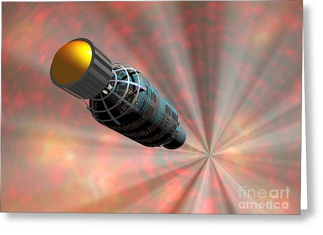 Warp Speed Greeting Cards - Faster-than-light Travel, Artwork Greeting Card by Walter Myers