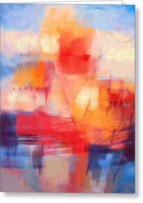Abstract Digital Paintings Greeting Cards - Fata Morgana Greeting Card by Lutz Baar