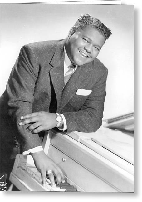 Fat Greeting Cards - Fats Domino Greeting Card by Silver Screen