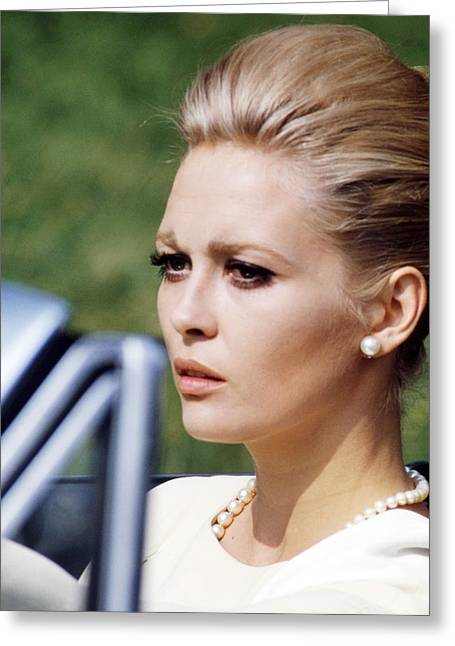 Dunaway Greeting Cards - Faye Dunaway in The Thomas Crown Affair  Greeting Card by Silver Screen