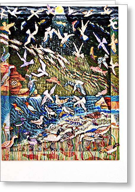 Feeding Sculptures Greeting Cards - Feeding Time Greeting Card by Maria Alquilar