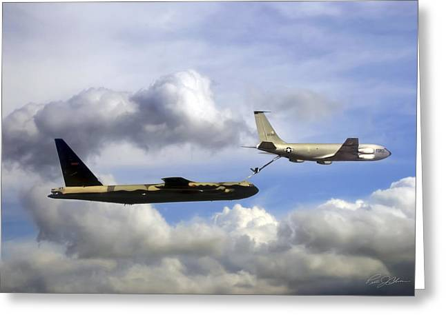 Boeing Greeting Cards - Feeding Time Greeting Card by Peter Chilelli