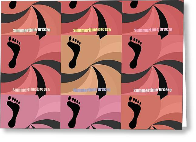 Toe Pad Greeting Cards - Feet in pop art  Greeting Card by Toppart Sweden