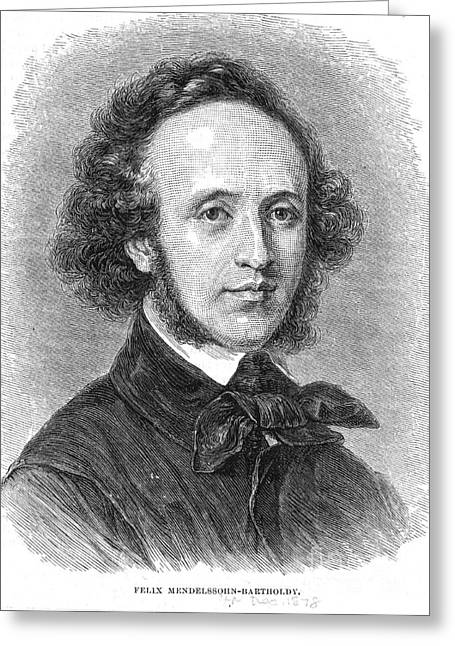 Concerto Greeting Cards - Felix Mendelssohn, German Composer Greeting Card by Photo Researchers