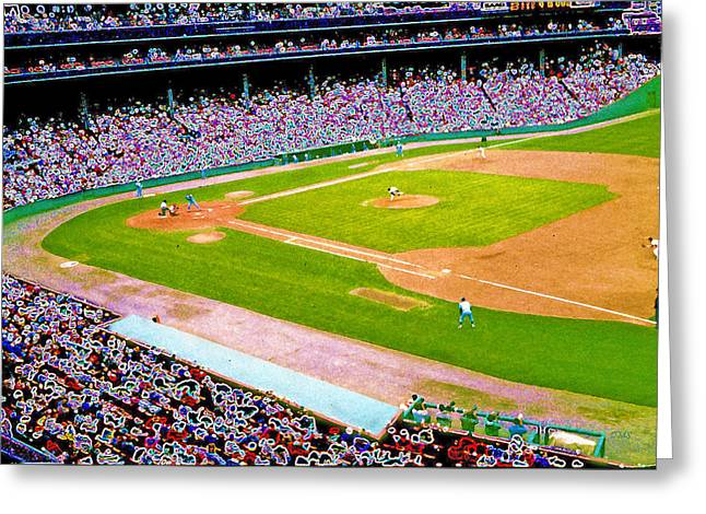 Boston Red Sox Greeting Cards - Fenway Frenzy  Greeting Card by David Schneider
