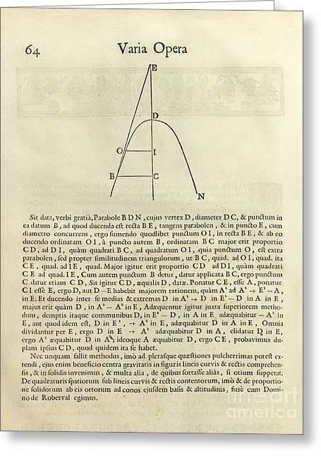 Mathematical Method Greeting Cards - Fermats Tangent Method Greeting Card by Royal Astronomical Society