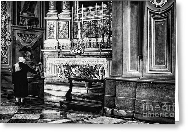 Human Spirit Greeting Cards - Ferrara Cathedral Greeting Card by Traven Milovich